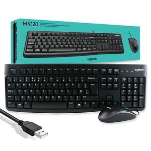 Logitech - Plug and Play USB keyboard + mouse combo (corded)